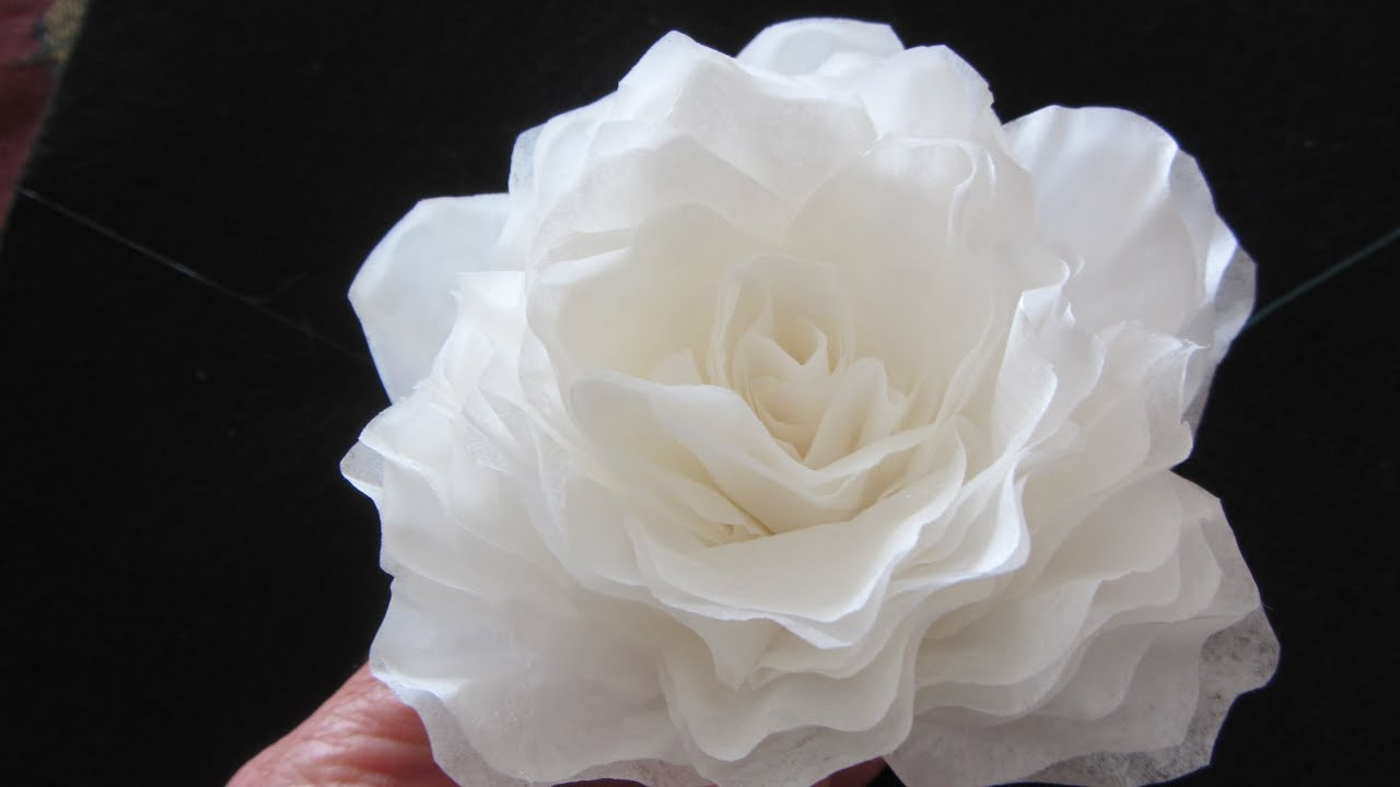 How To Make This Elegant Coffee Filter Rose Quick Youtube