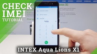 How to Find IMEI and Serial Number in INTEX Aqua Lions X1