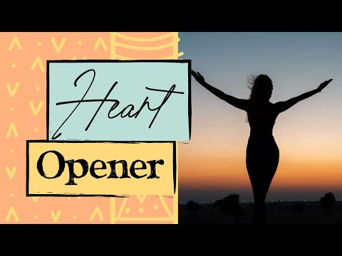 15 min Gentle Yoga Flow for the chest | Heart Opener Yoga Flow: Stretch & Destress