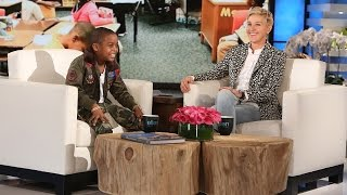 Kid Rapper and Entrepreneur Lil C-Note Meets Ellen!