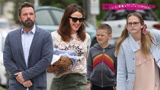 Ben Affleck & Jennifer Garner Are Co-Parenting Champs As They Take Their Children To Church 6.2.19