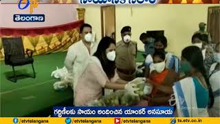 Jabardasth fame Anasuya distributes nutrition kits to preg..