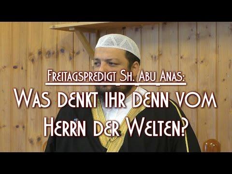 WAS DENKT IHR DENN VOM HERRN DER WELTEN? mit Sh. Abu Anas am 06.11.2015 in Braunschweig