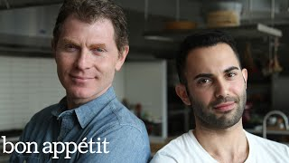 Bobby Flay vs. Andy: Battle of the Onion Rings | Bon Appétit