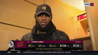 LeBron James postgame on Lonzo Ball, Larry Bird, moment with young fan in hospital | CAVS-LAKERS