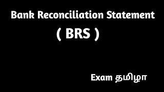 BANK RECONCILIATION STATEMENT (BRS) IN TAMIL