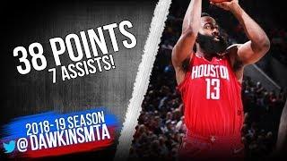 James Harden Full Highlights 2019 01 05 Rockets vs Blazers   38 Pts 7 Assists!  FreeDawkins