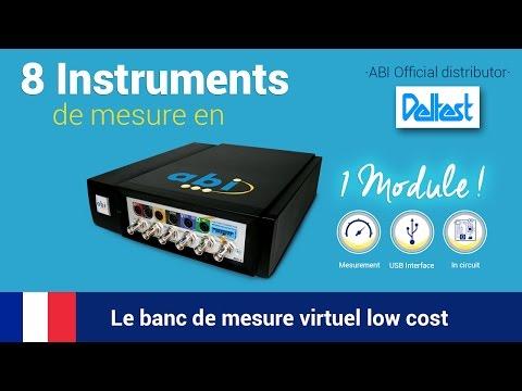 8 Instruments de mesure en  1 Module! Le banc de mesure virtuel low cost