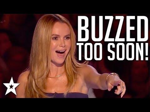 When Judges BUZZ Too Soon!   Britain's Got Talent   Got Talent Global