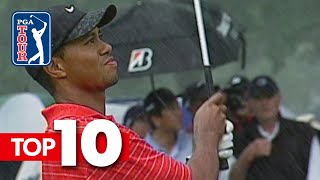 Tiger Woods' top-10 all-time shots in World Golf Championships