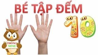 Dạy bé tập đếm số từ 1 đến 10 tiếng việt | em học chữ số với hai bàn tay | dạy trẻ thông minh sớm 1