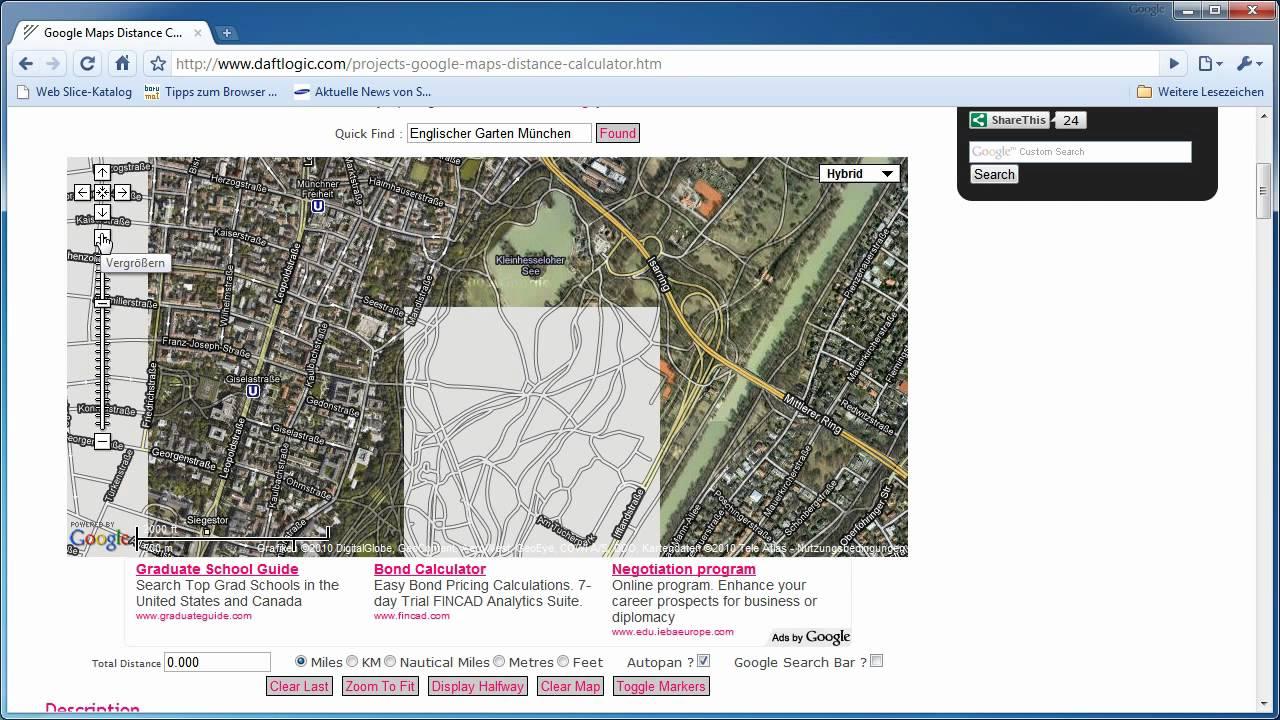 google maps distance calculator youtube. Black Bedroom Furniture Sets. Home Design Ideas