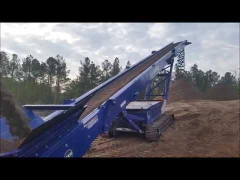 EDGE TS65 Track Stacking Conveyor - Stockpiling Asphalt Sand