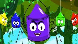 Five Scary Spiders Crayons Nursery Rhymes Kids Songs Baby Rhymes