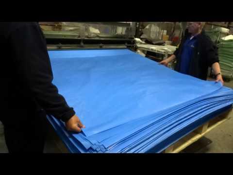 Woven Polypropylene Sheet Cutting
