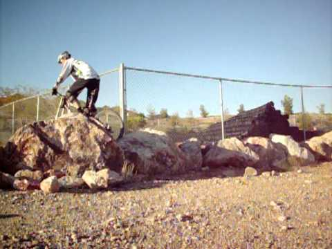 "MTB Skills, Wheelie and Weight Shift over 36"" rock, betterride.net"