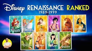 DISNEY RENAISSANCE (1989-1999) - All 10 Movies Ranked Worst to Best