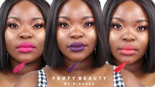 FENTY BEAUTY NEW STUNNA LIP PAINT SWATCHES: #UNLOCKED #UNATTACHED #UNDEFEATED | Le Beat