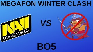 NAVI vs NO PANGOLIER GAME 1&2 HIGHLIGHTS | BO5 | MEGAFON WINTER CLASH FINALS