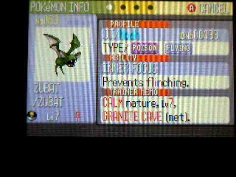 Shiny Zubat After 3 066 Encounters 2nd Shiny In Ruby