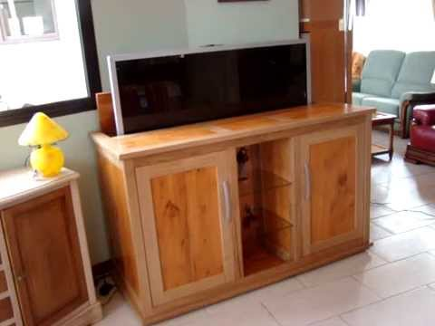 meuble tv escamotable ranger votre ecran youtube. Black Bedroom Furniture Sets. Home Design Ideas
