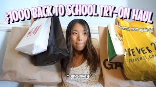 $1000 back to school try-on clothing haul 2019