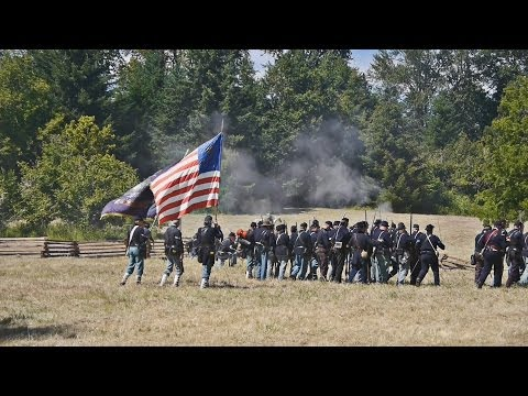 Civil War Battle, Willamette Mission State Park, Pt 2, 2014, 4K 3D