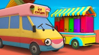 Ice Cream Truck Smoothie Machine with Gecko's Garage | Learn Colors For Kids