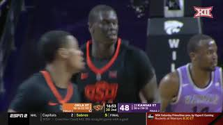 Kansas State vs Oklahoma State Men's Basketball Highlights