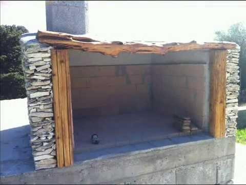 Come costruire un barbecue in muratura e pietra - Costruire cappa cucina ...
