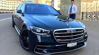 2021 Mercedes S Class Long - AMG S500 CITY Drive Review Interior Exterior