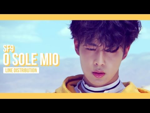 SF9 - O Sole Mio Line Distribution (Color Coded) | 에스에프나인 - 오솔레미오