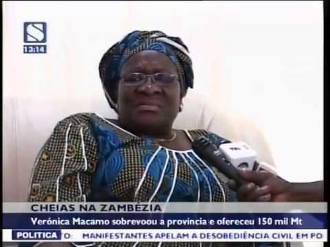 Baixar Verónica Macamo sobrevoou a zona afectada pelas cheias na Zambézia e ofereceu 150 mil Mt