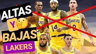 ALTAS y BAJAS Los Ángeles LAKERS 2019 | Mega Análisis de la plantilla y NOTAS de temporada NBA