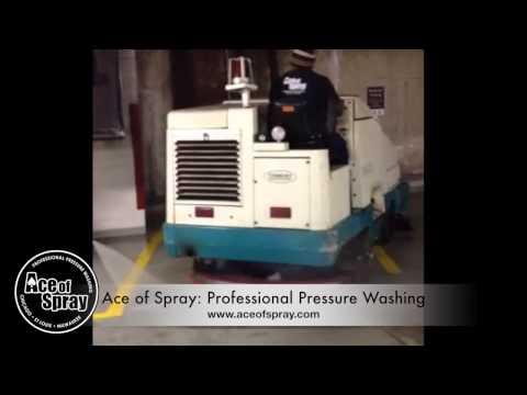 Milwaukee Parking Garage Power Washing