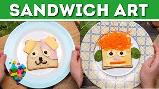 DIY Food Art For Kids: How To Make Sandwiches Smile   Toast Art Ideas   A+ hacks