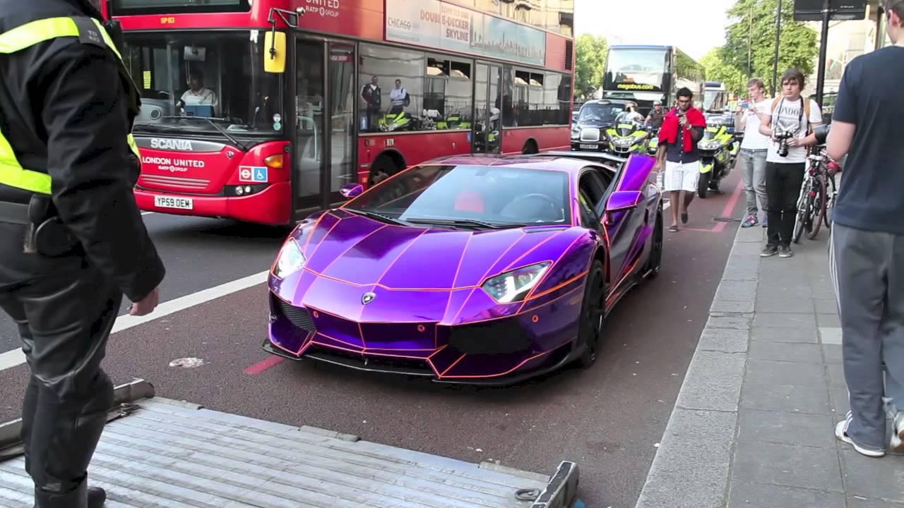 Lamborghini Aventador Tron saisie par la police