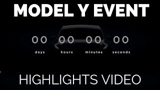 Tesla Model Y Event in Under 2 Minutes - Highlights