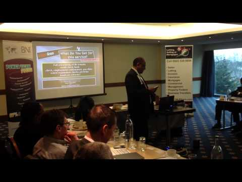 Albert Grace Estate - Malay Shah - 10 Minute Presentation at Stadium BNI Harrow Wembley 2013