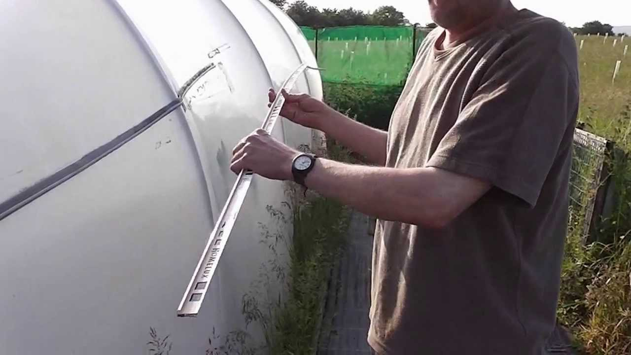 How To Make A Cheap Simple And Easy Polytunnel Gutter