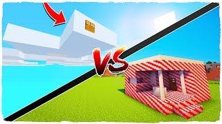 👉 ¡Casa de NUBES vs casa de CARAMELOS! - MINECRAFT