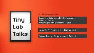 Organize data within the academic institution - challenges and practical tips