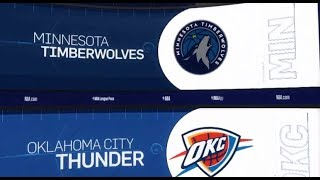 Oklahoma City Thunder vs Minnesota Timberwolves Game Recap   1/8/19   NBA