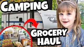 NEW Camping Grocery Haul and RV TOUR