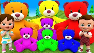 Learning Colors for Children with Little Baby Fun Play Claw Machine Color Teddy Bears 3D Kids Edu