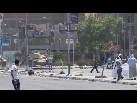 Thumbnail for Violence in Egypt, captured on the web