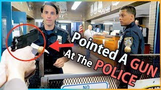 We Took A GUN To The POLICE STATION !!