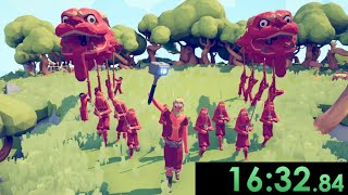 I tried speedrunning Totally Accurate Battle Simulator and used deplorable strategies to go fast