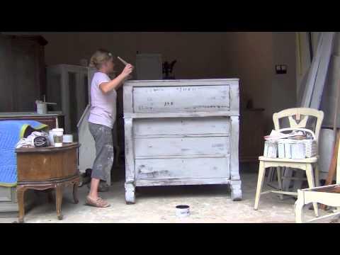 Blue Egg Brown Nest Annie Sloan Chalk Paint Tutorial 4