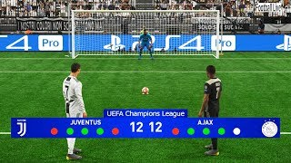 PES 2019 | JUVENTUS vs AJAX | UEFA Champions League (UCL) | Penalty Shootout | Gameplay PC